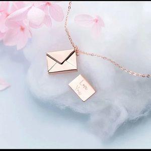 Sterling Silver Envelope Lover Letter Pendant